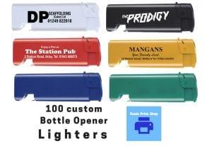 325100 custom printed lighters with bottle opener