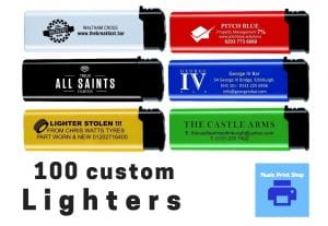 100 custom printed lighters