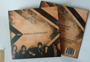 50 cds duplicated in recycled brown manila printed card wallets