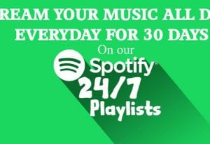 I will add your music to our Spotify playlist for 1 month