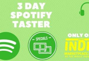3 Day Spotify Taster