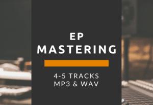 59459EP 4-5 Track Song Mastering MP3 & WAV