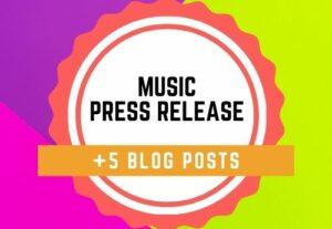 67486Music press release + 5 Blog Posts